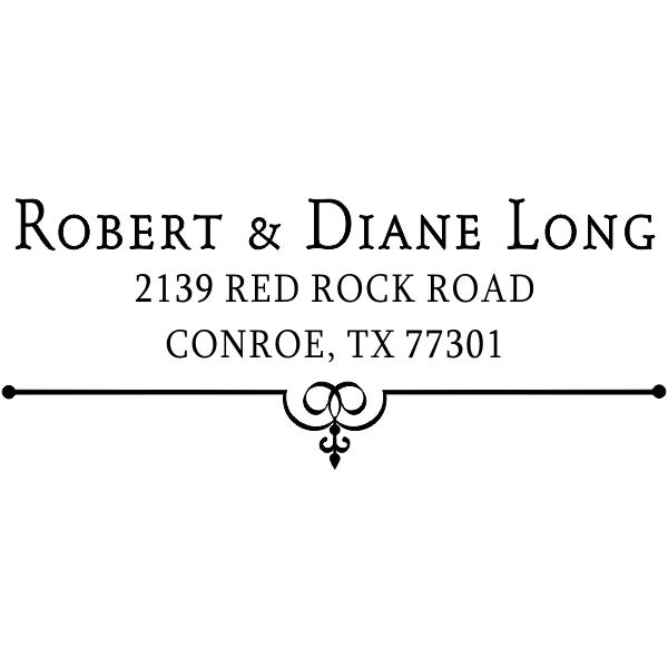 Long Deco Bottom Address Stamper