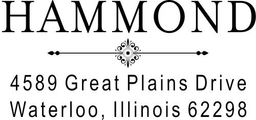 Hammond Art Deco Address Stamper