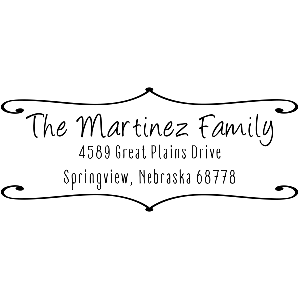 Martinez Family Deco Border Address Stamp