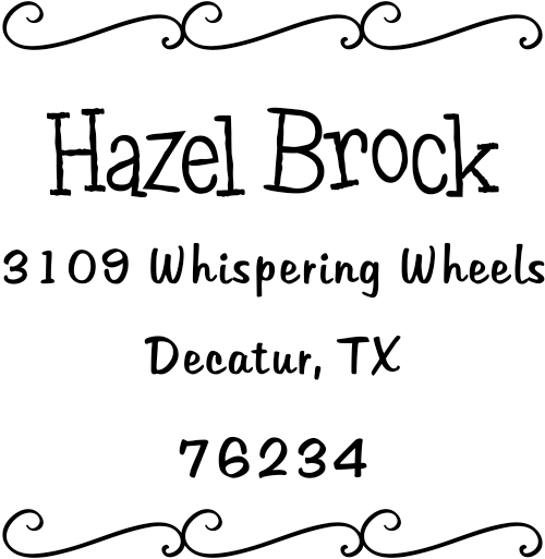 Brock Curly Q Address Stamp