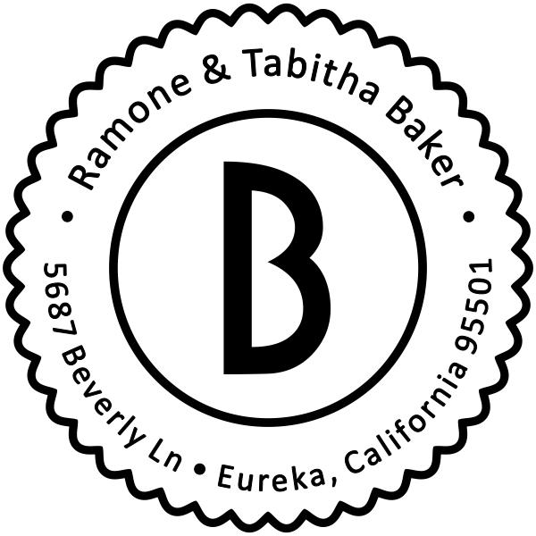 Baker Lace Border Address Stamp