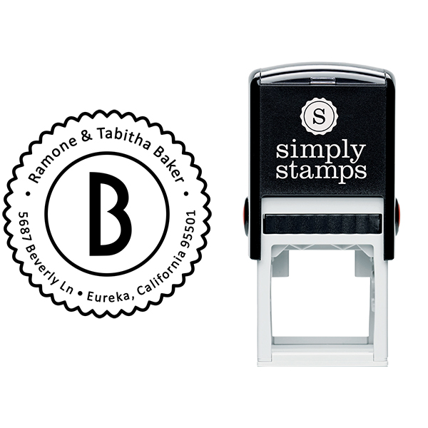 Baker Lace Border Address Stamp Body and Design