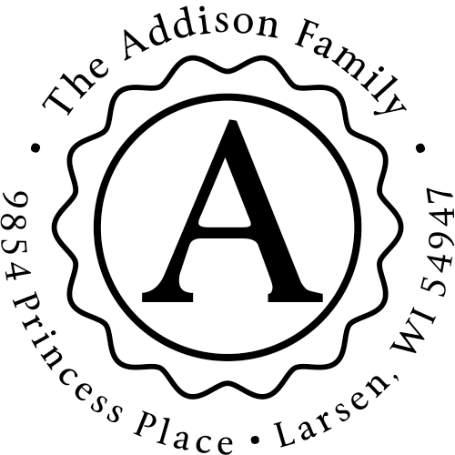Addison Emblem Return Address Stamp