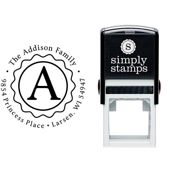 Addison Inner Zig Zag Address Stamp Body and Imprint
