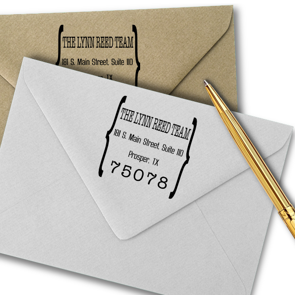 Quote Square Return Address Stamp Imprint Example