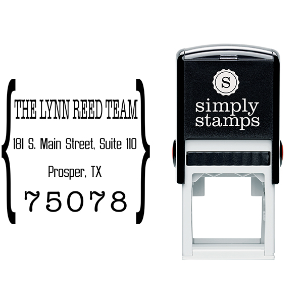 Quote Square Return Address Stamp Body and Design