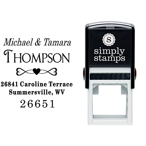 Full of Hearts Return Address Stamp Body and Design