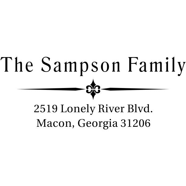 Sampson Vintage Custom Address Stamper