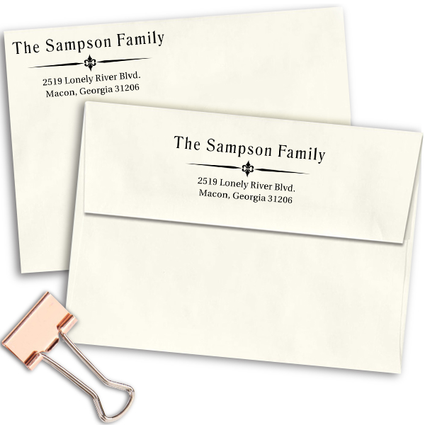 Sampson Vintage Return Address Stamp Imprint Example