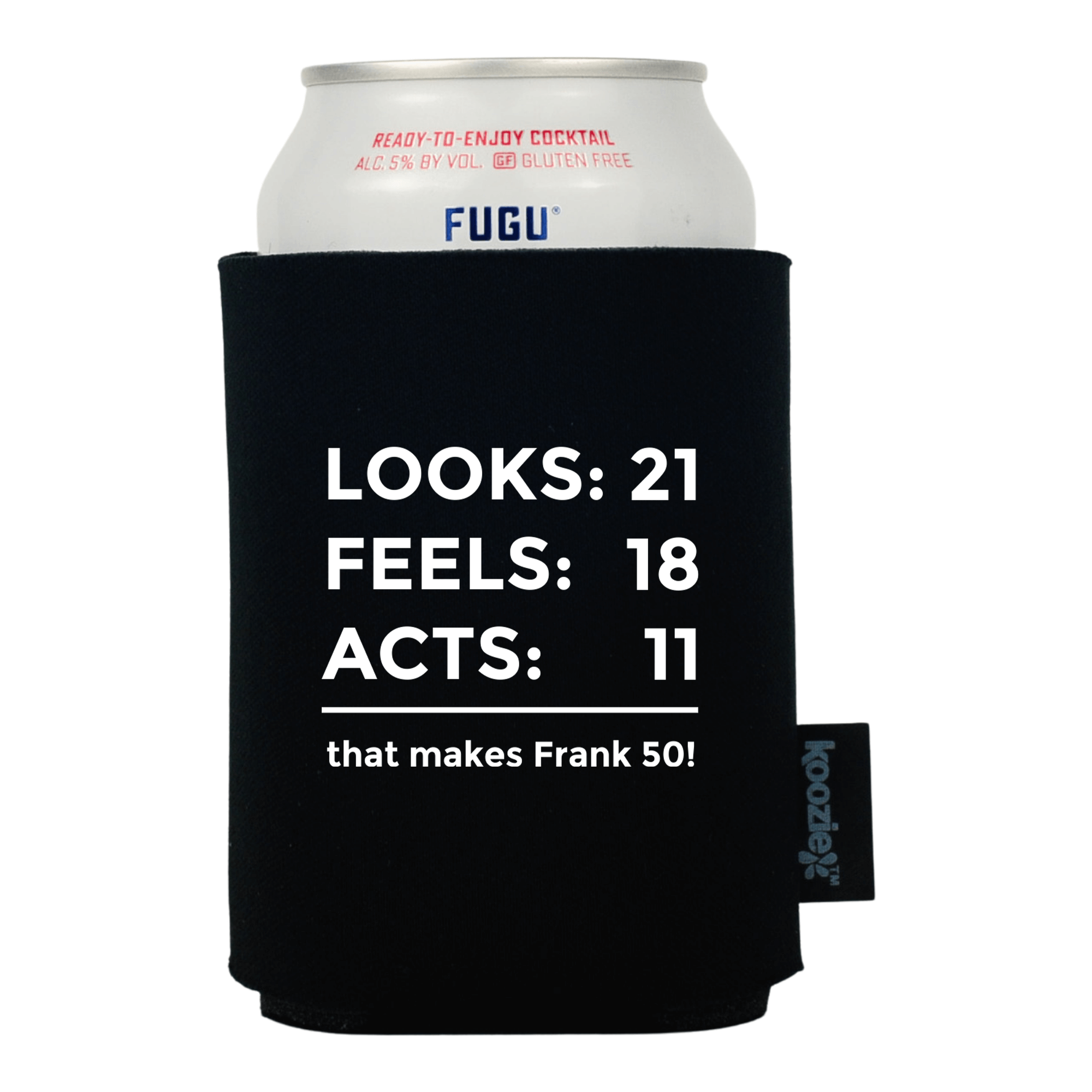 Looks Feels Acts Birthday Koozie®