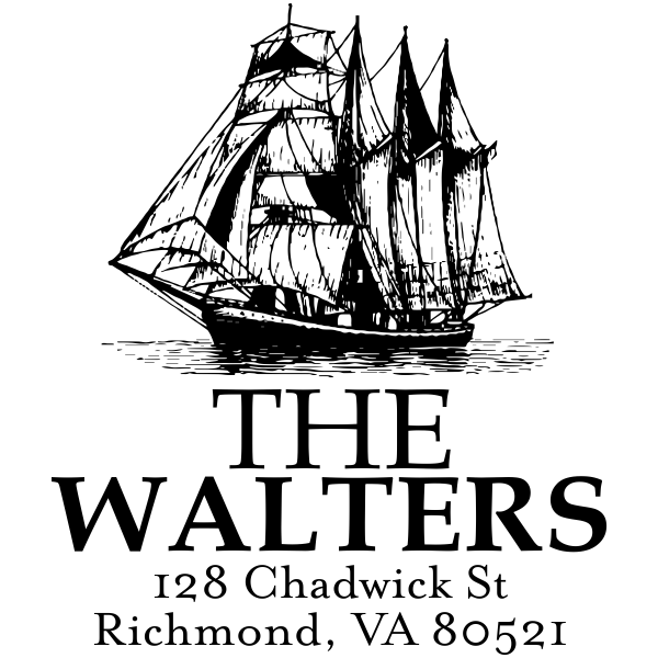 Nautical Ship Return Address Stamp