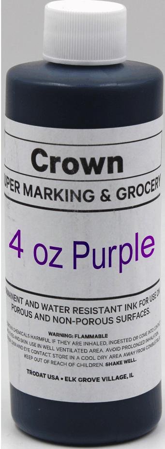 Purple 4oz SuperMarking Ink