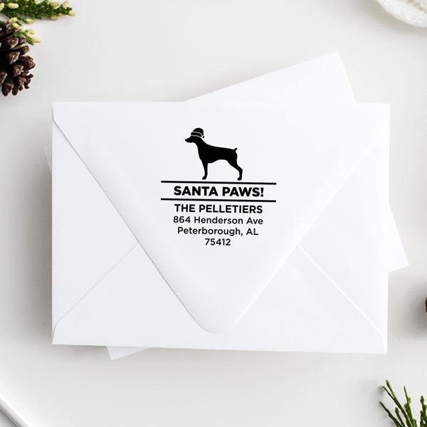 Santa Paws Pointer Holiday Address Stamp