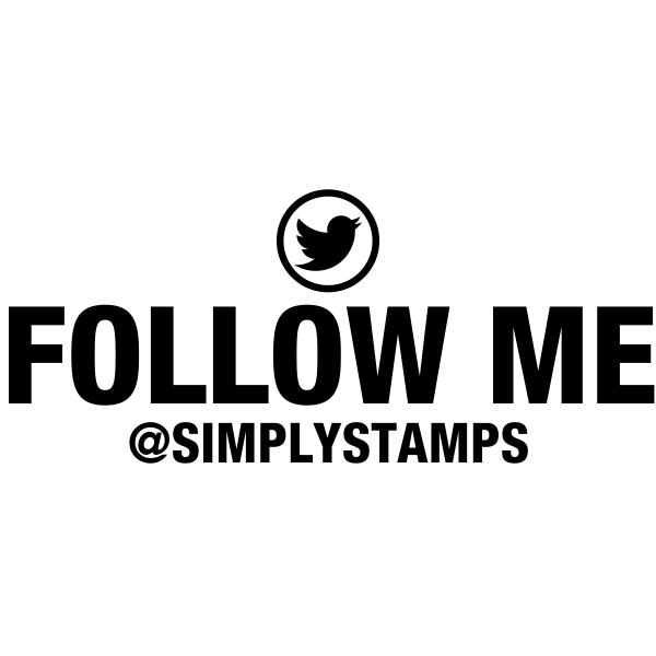 Follow Me On Twitter Handle Stamp