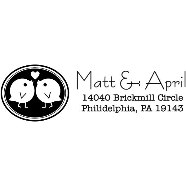 Love Bird Wedding Stamp