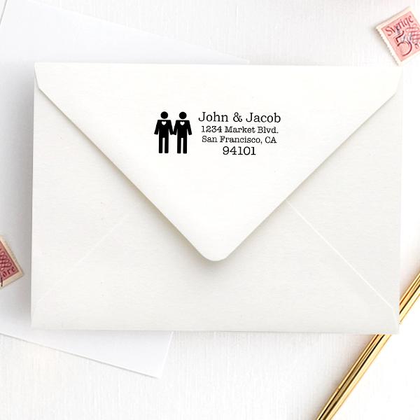 Gay Icon Return Address Stamp Imprint Example