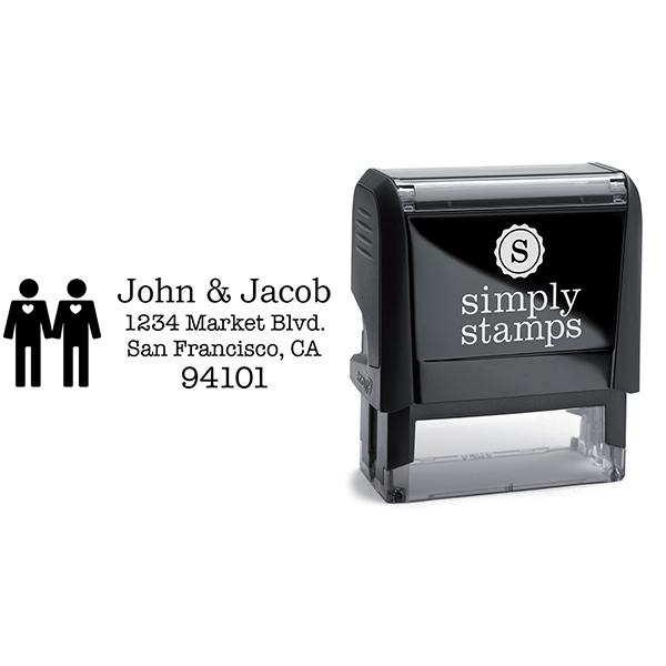 Gay Icon Return Address Stamp Body and Design