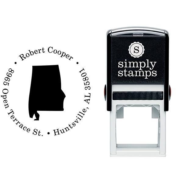 Alabama Round Address Stamp Body and Design