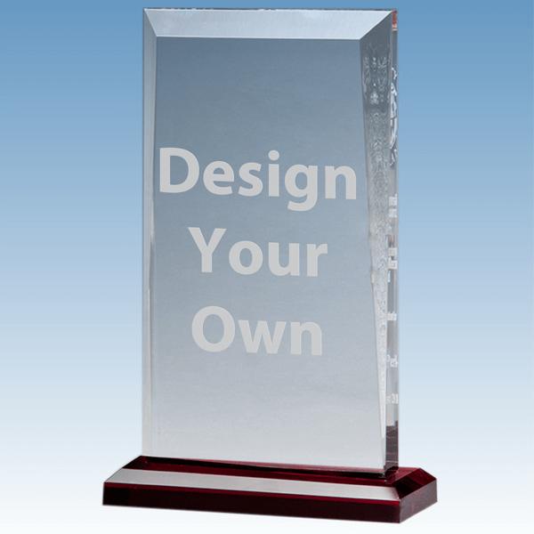 A7026 Beveled Acrylic Award with Red Base