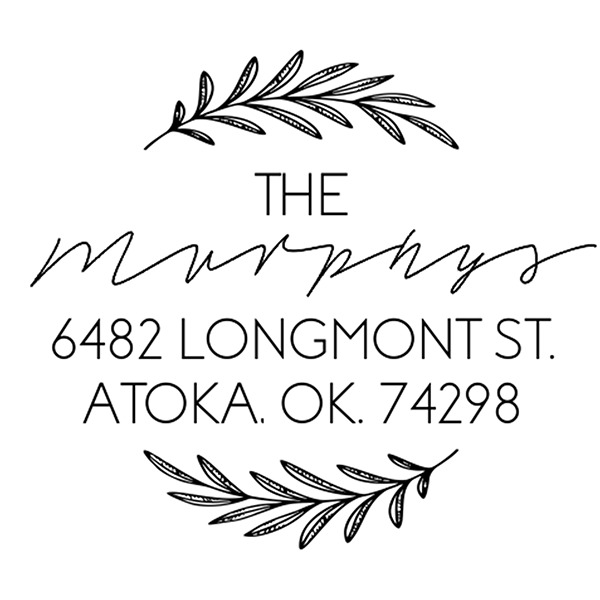 Round Branch Custom Address Stamp