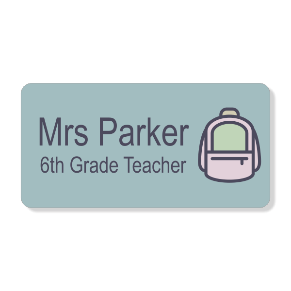 Backpack School Name Tag