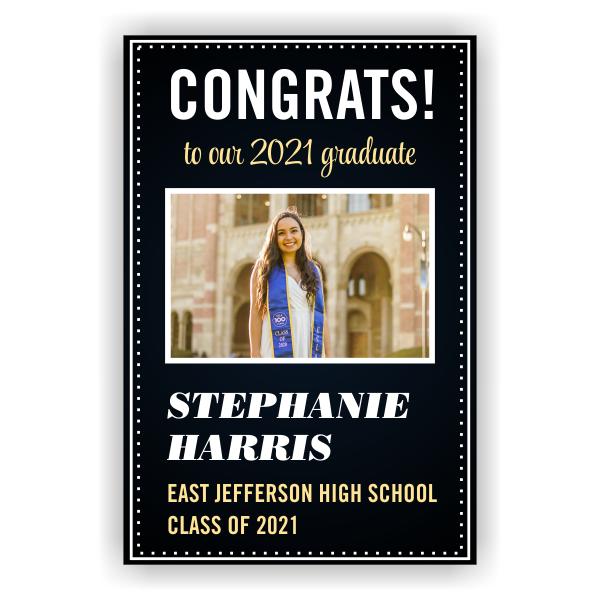 2021 Graduation Elegant Vertical Banner