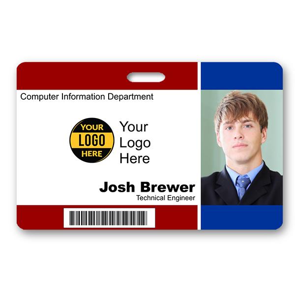 Horizontal Photo ID with Bar Code & Logo