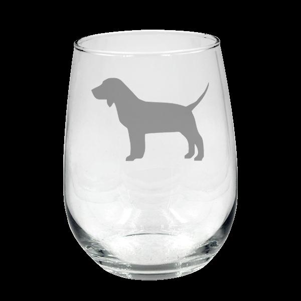 Beagle Dog Stemless Wine 904 Custom