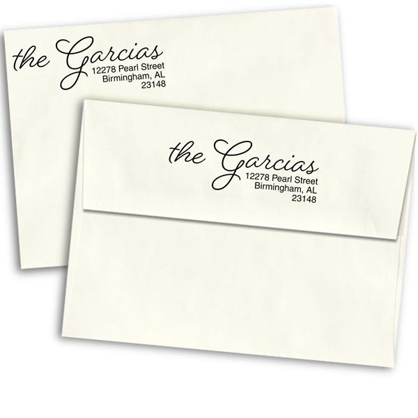 Beloved Script Custom Address Stamp