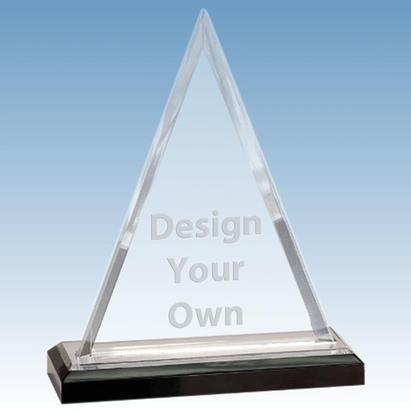 iMP802S - Beveled Triangle Acrylic Stand-up Award