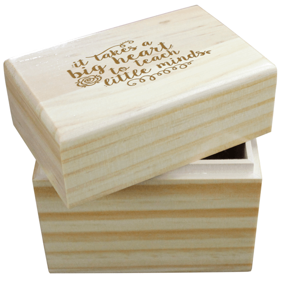 It Takes a Big Heart Wooden Box