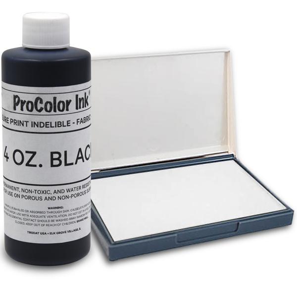 Black 4oz SuperMarking Ink w/ Small Pad
