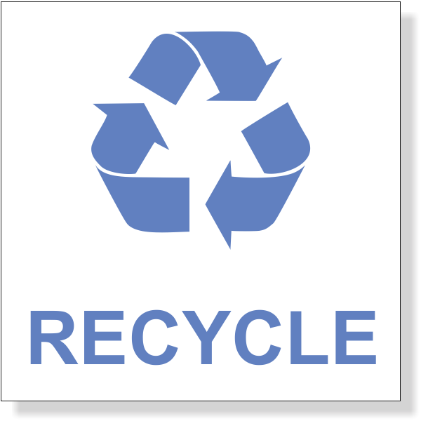 """Blue Recycle Decal 