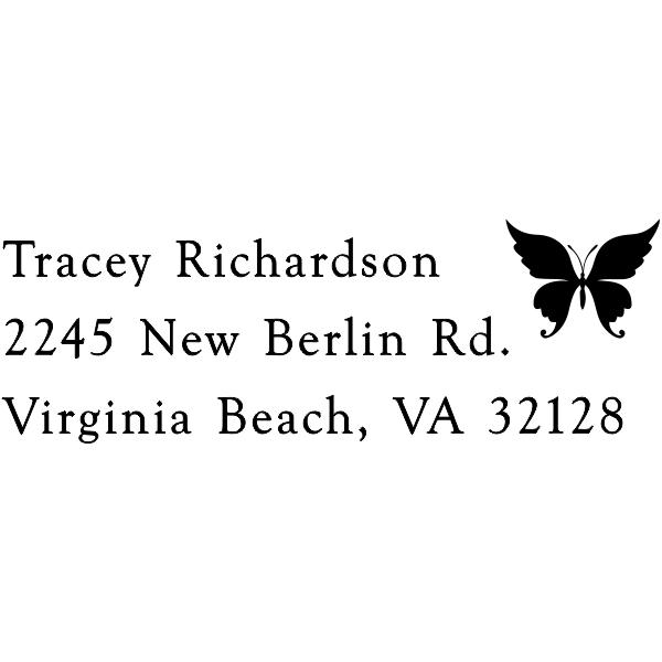 Pretty Butterfly Custom Address Stamper