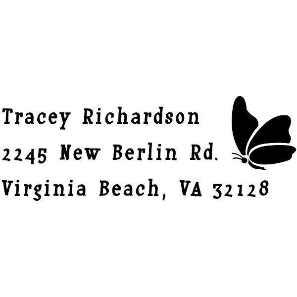 Perching Butterfly Return Address Stamp