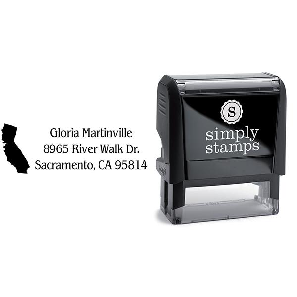 California Return Address Stamp Body and Design
