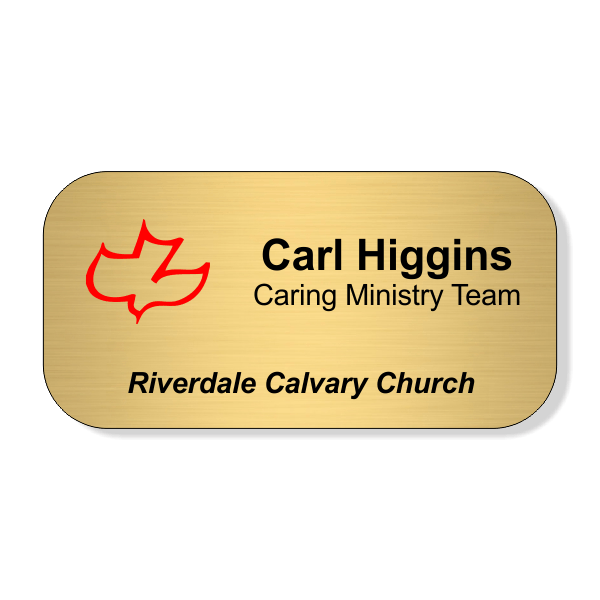 Calvary Full Color Name Tag - Large Rectangle