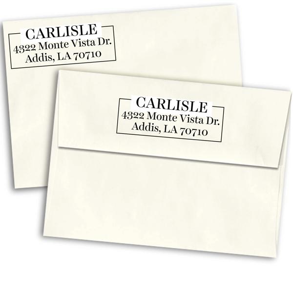Carlisle Border Return Address Stamp