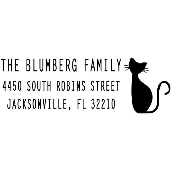 Blumberg Cat Address Stamp