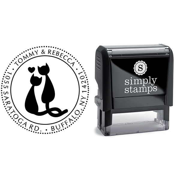Cat Mates Address Stamp Body and Design