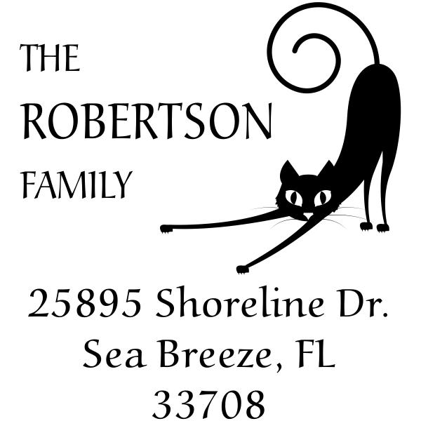 Spastic Kitty Address Stamp
