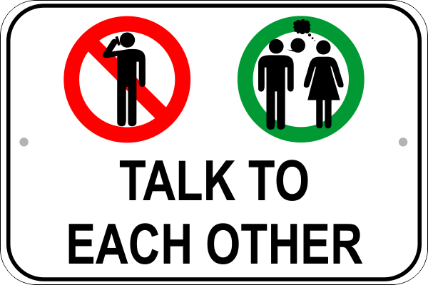Talk Cell Phone Sign