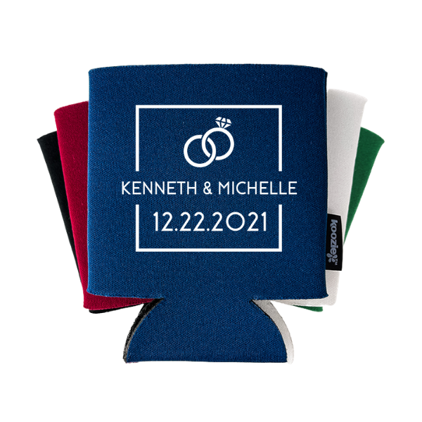 Clean Square with Ring Wedding Koozie®