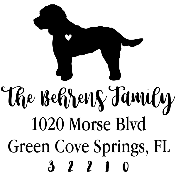 Cockapoo Love Address Stamp