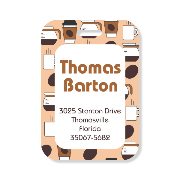Coffee Lovers Luggage Tag
