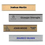 Color Wall Nameplate with Holder (Traditional Aluminum)