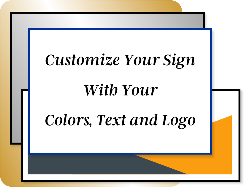 Color Sign Horizontal 4 in x 14 in