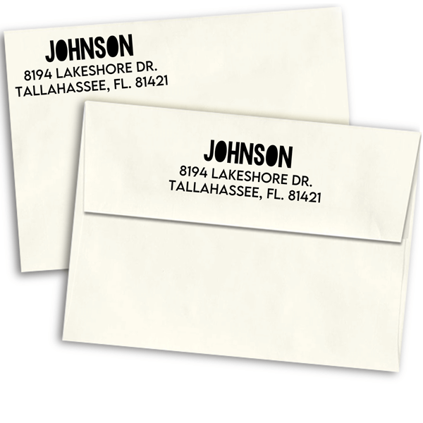 Color Block Custom Address Stamp