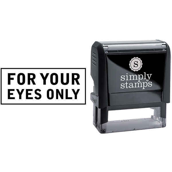 For Your Eyes Only Confidential Business Stamp