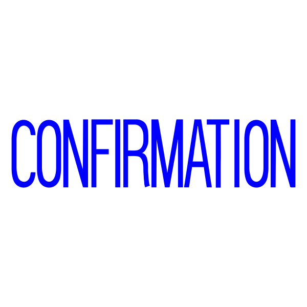 CONFIRMATION Stock Stamp